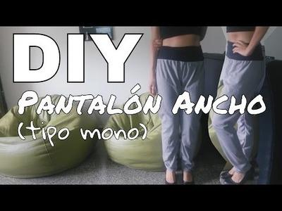 DIY - Pantalón ancho (tipo mono) Recicla tu ropa! Fácil para principiantes de la costura!