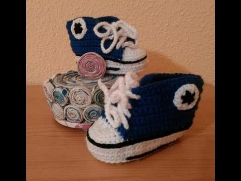 DIY Zapatitos, patucos, zapatillas o escarpines para bebe a crochet