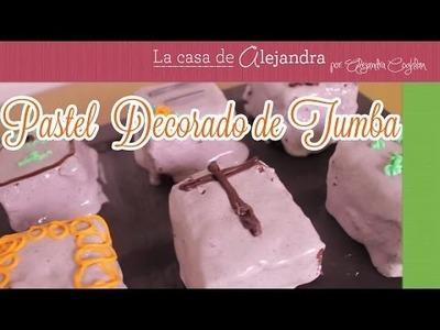 Sorprende en Día de Muertos  con un Pastel Decorado de Tumba DIY Alejandra Coghlan