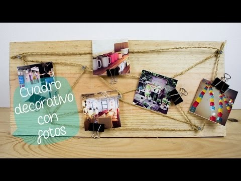 Cuadro decorativo con fotos DIY Instagram. BigCrafts