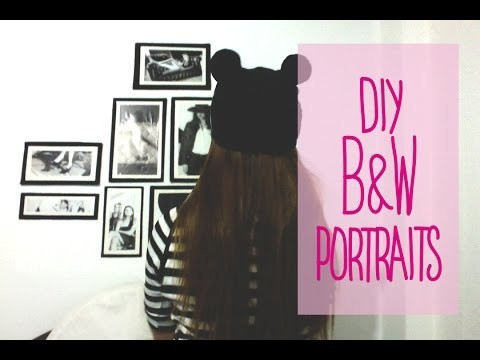 DIY❤Black and White Frames❤Decora tu habitación❤