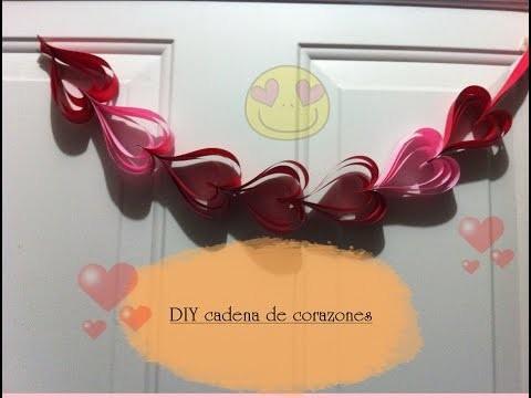DIY cadenas de corazones (4 ideas)