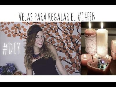 DIY Velas para el 14 de febrero!!!!! Fanal Led con forma de corazón!!!
