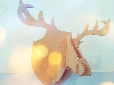 Decora tu habitación | DIY Cabeza de ciervo |  #Blogarte