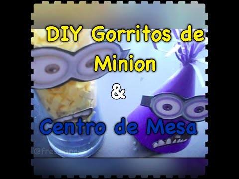 DIY Gorritos de Minion y Centro de Mesa
