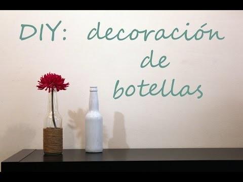 DIY LOW COST: decoración de botellas!