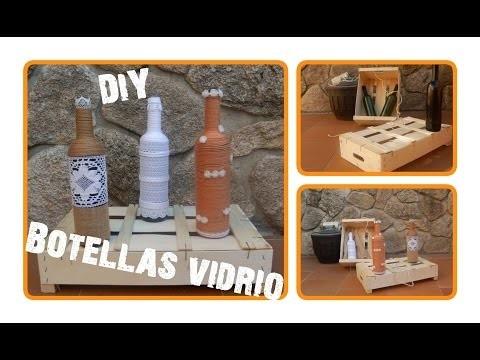 DIY- Cómo decorar botellas de vidrio (wine bottles) | Candermich