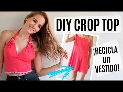 DIY crop top - recicla un vestido