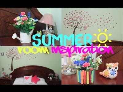 DIY- DECORA TU CUARTO EN VERANO ☼ SUMMER ROOM INSPIRATION