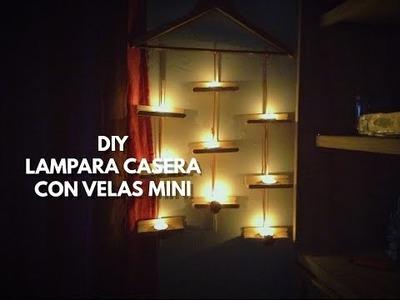 DIY DECORA TU HABITACIÓN -LAMPARA CASERA CON GANCHO DE ROPA Y VELAS MINI | Rebeca Linares