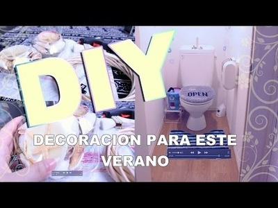 DIY FACIL! DECORACION DE VERANO