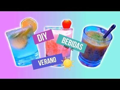 DIY   Fácil y Rápidas Bebidas Para El Verano ☀