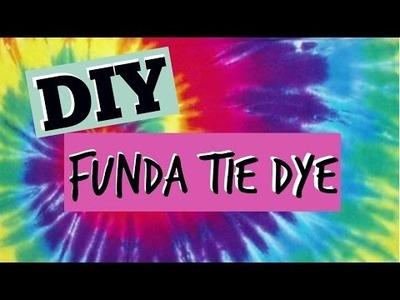 DIY FUNDA TIE DYE.