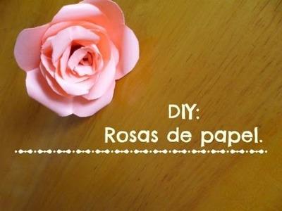 DIY Rosas de papel │SoloUnaLectoraMás