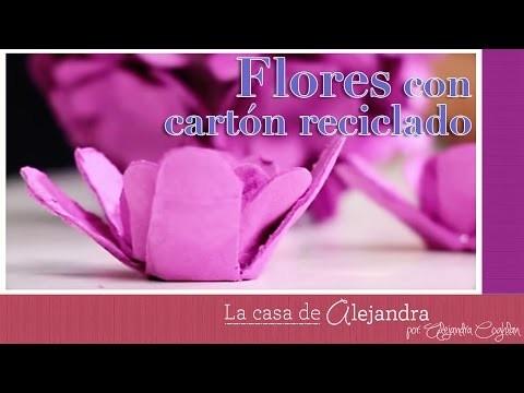 Faciles Y Lindas Flores Con Carton Reciclado Diy Alejandra Coghlan