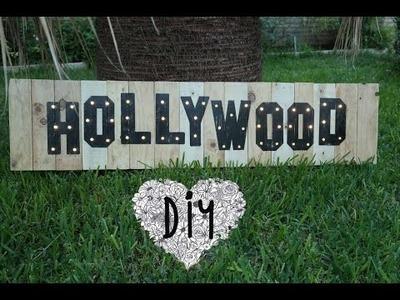 HAZ TU CARTEL DE HOLLYWOOD ★DIY★  MAKE HOLLYWOOD SIGN