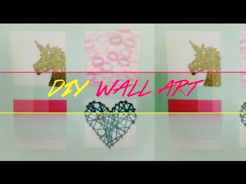 DIY: Arte en Canvas Colorido - Colorful Canvas Wall Art