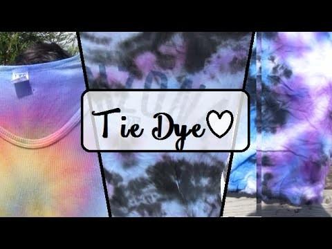 DIY ♥ Como decorar tus camisas - how to Tie Dye