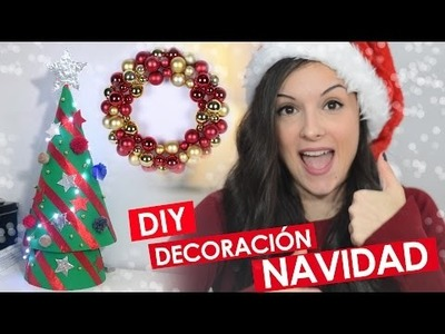 Decoración NAVIDAD DIY | Tutorial Árbol con cartulina | Corona de bolas | PetitSweetCouture