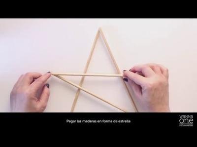 DIY: Cómo hacer una estrella de Navidad para el árbol en oro
