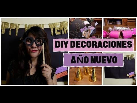 DIY | Decoraciones Fiesta Año Nuevo | Party Photo Booth ♡