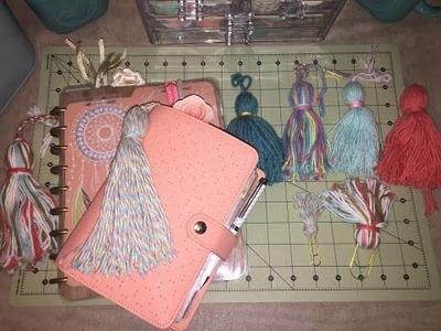DIY Planner Tassel and paper clip. Tassel para agenda y clip de papel