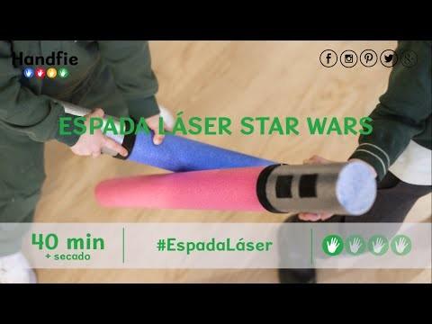 Cómo hacer una espada láser de Star Wars · Handfie DIY