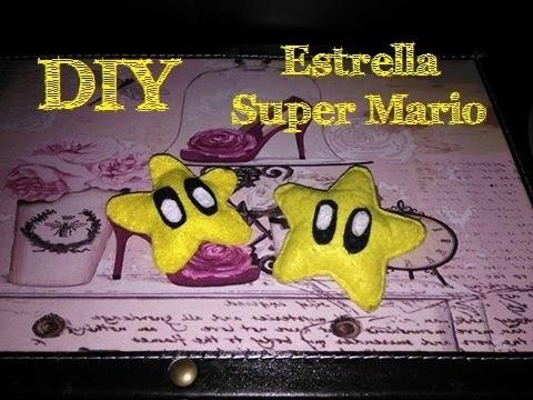 DIY- Broche fieltro estrella Super Mario Bros