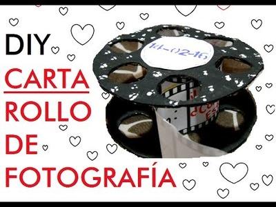 DIY - CARTA EN ROLLO FOTOGRÁFICO. ❤ 14 DE FEBRERO.