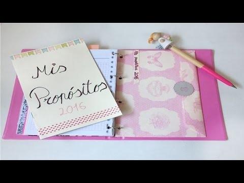 DIY Cómo hacer un sobre para agendas con anillas | Laila color - Poncolorentuvida