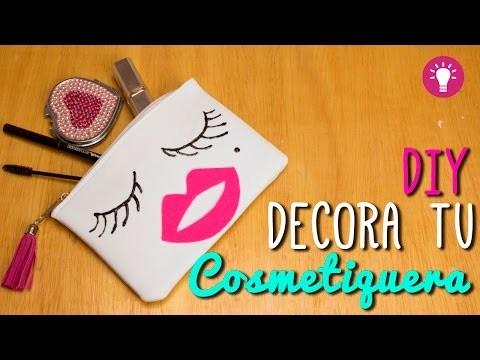 DIY Cosmetiquera Fácil - Decora y Renueva tu Bolsa de Maquillaje - Mini Tip# 75