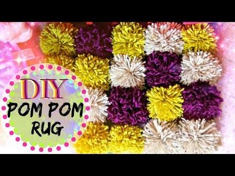 DIY Facil - Tapete De POM POMS | Tejiendo Con Erica