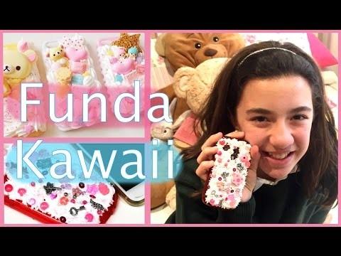 DIY Funda para el móvil casera con efecto nata Kawaii o decoden