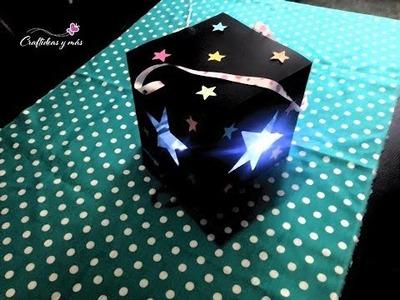 DIY Lampara de papel con luces de navidad