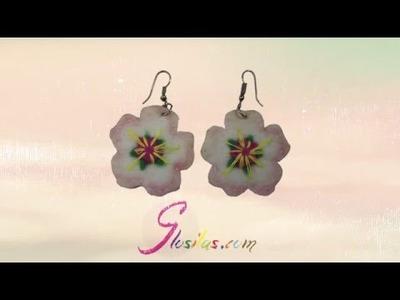 DIY Pendientes Flor de Almendro (Fieltro)- DIY Almond flower earrings