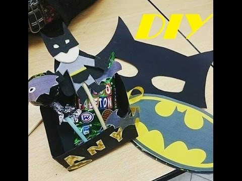 DIY Regalo de Cumpleaños, Tarjeta, antifaz y mini Batman