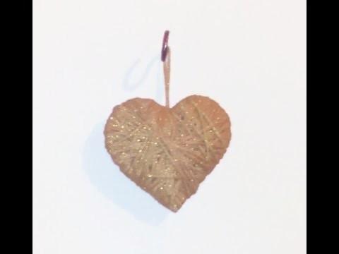 DIY: Tutorial corazón de lana para colgar muy fácil y rápido. Decoración. 3D yarn heart.