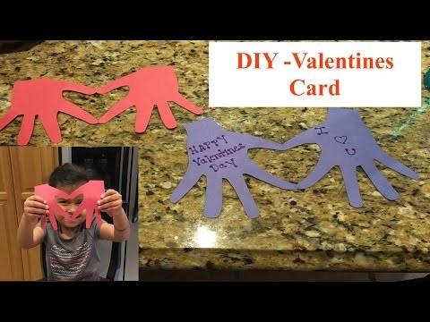 DIY Valentines Day Card  Tarjeta para  San Valentin
