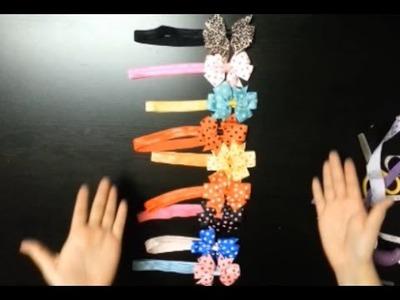 DIY vinchas con moños para niñas
