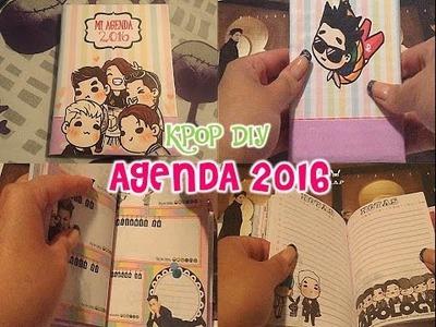 KPOP DIY Como hacer una agenda 2016