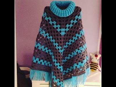 Poncho a crochet muy fácil #DIY #tutorial