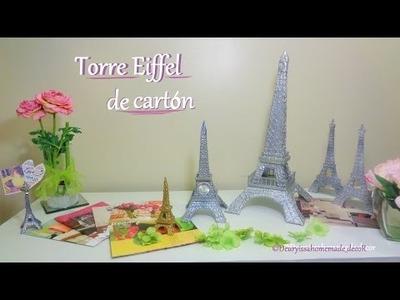 Torre Eiffel. DIY. Como hacer una Torre Eiffel de cartón