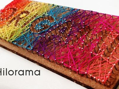 Hilorama DIY. Cuadro con clavos & hilos. STRING ART