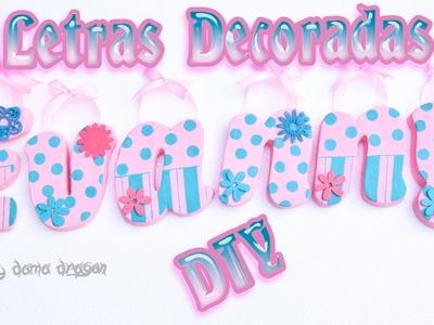 Letras decoradas con pasta Das Diy - Craft | Porcelana Fría, Arcilla polimerica