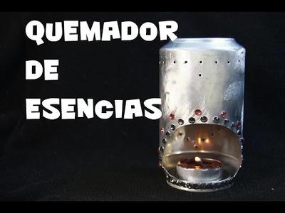 DIY QUEMADOR DE ESENCIAS CON LATA DE REFRESCO RECICLADA PARA EL DIA DEL PADRE