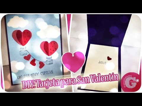 DIY: Tarjeta para San Valentín ♥ - Scrapbooking | Manualidades Gavimar