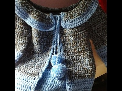 Abrigo de niña a crochet #tutorial #DIY #paso a paso