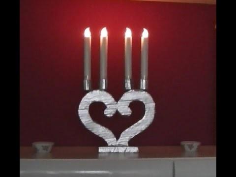 Candelabro de cartón romántico y muy Shabby Chic - Manualidades - DIY - Decoración