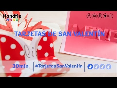 Cómo hacer tarjetas de San Valentín originales · Handfie DIY