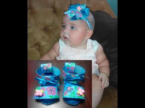 Como hacer zapatitos para Bebe #1. Diy baby shoes